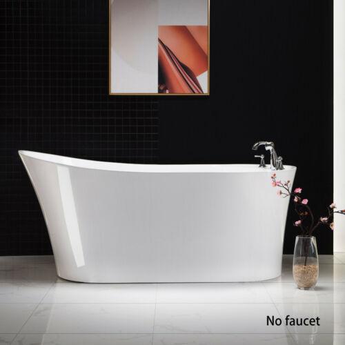 "WOODBRIDGE 59"" Acrylic Freestanding Bathtub Contemporary Soaking BTA0083"