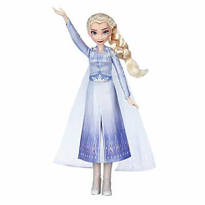 Disney Frozen 2 Singing Elsa Fashion Doll with Music Wearing Blue Dress