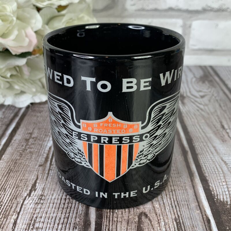 Brewed to Be Wired Fresh Roasted Espresso Black Coffee Mug Roasted in the USA