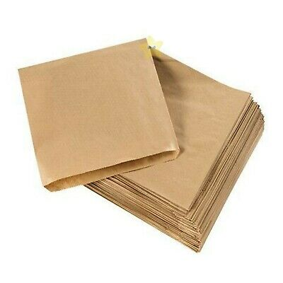 500 x Brown Strung Kraft Paper Food Bags - 7x9.5