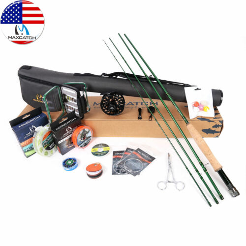 Maxcatch Premier Fly Fishing Rod Reel Combo Complete 9