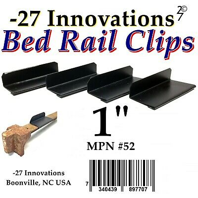4 CLIPS Antique Flat Top Rail Iron Bed-Box Spring/Mattress CONVERSION KIT 1