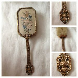 BEAUTIFUL-RARE-VANITY-PETIT-POINT-HAND-BRUSH-MADE-IN-ENGLAND