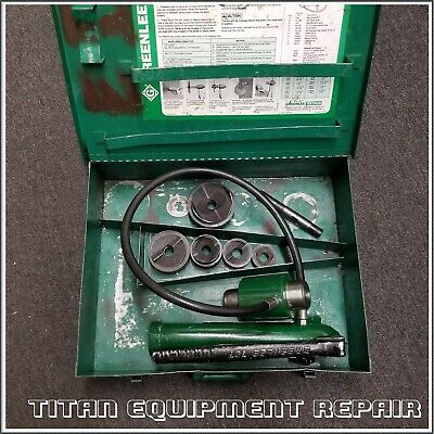 Greenlee 7310 1-2 Conduit Hydraulic Knockout Punch Set 767 Pump 746 Ram