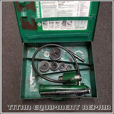 Greenlee 7310 1-2 Conduit Hydraulic Knockout Punch Set 767 Pump 746 Ram