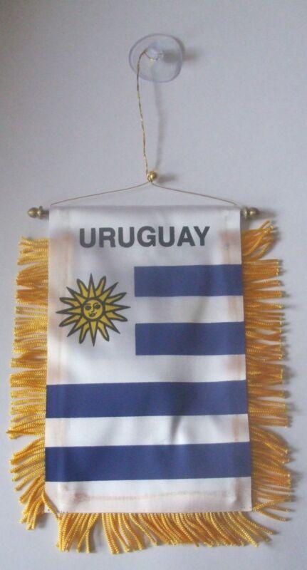 10 x Uruguay Flag Mini Car banner for your car mirror or any window.Bulk