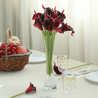 Calla Lily Lily Centerpiece - 20 BLACK RED 14