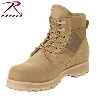 """Rothco Military Combat Work Boot - Men's 6"""" Desert Tan Tacti"""
