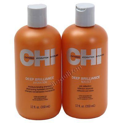 CHI Deep Brilliance Hydration Shampoo and Reflect Silk Reflection SET