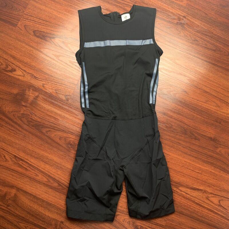 Adidas Women CrazyPowerSuit Weightlifting Workout Training Zipper Singlet Medium