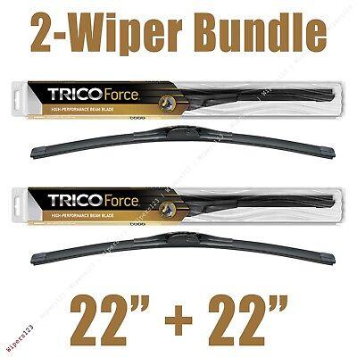 2 Wipers 22  22 Trico Force All Season Beam Wiper Blades 25 220 x2