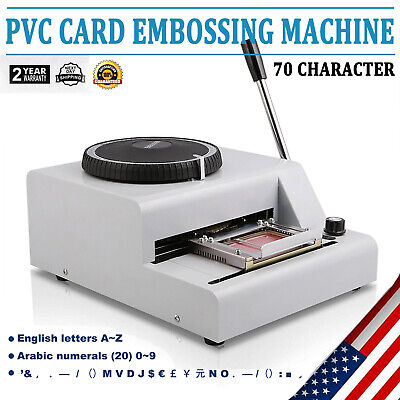 72-character Pvc Card Embosser Stamping Machine Credit Id Vip Magnetic Embossing