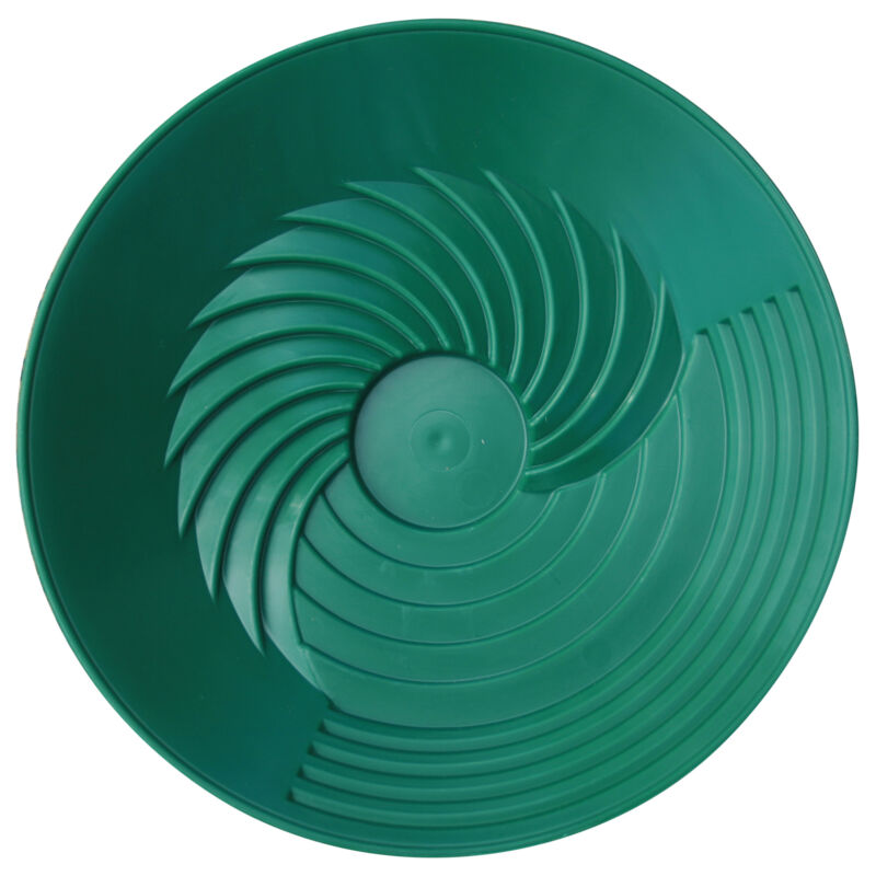 """TurboPan Gold Prospecting Tools 10"""" Green Plastic Gold Pan for Sluice Panning"""