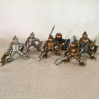 Fisher Price Great Adventures Knights 5 Gold 2 Silver 90s Vtg