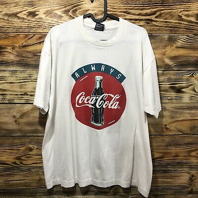Vintage Always Coca Cola T Shirt Mens Size XL EUC
