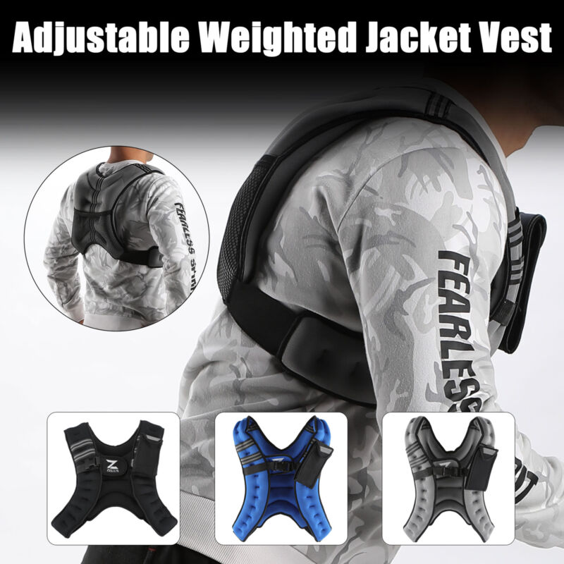 12 lb. Weighted Vest Adjustable w/ Reflective Stripes for Wo