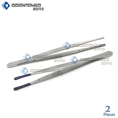 Tweezers Bead Pearl Holding Set of 2 - Hollow & PVC Coated Tips Parts Handling