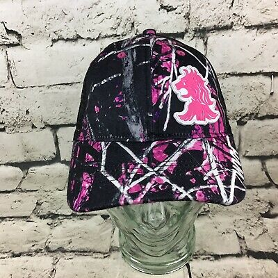 Willamette Valley Hops Women's OSFA Hat Pink Forest Camo Meshback Baseball Cap Hop Pink Camo