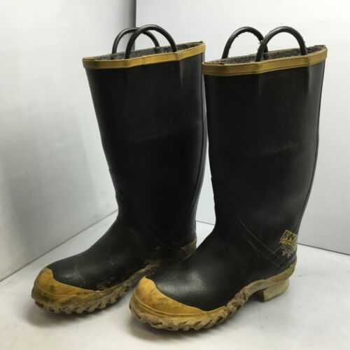 Ranger FireWalker Firefighter Boots Turnout Rubber Steel Toe Mens 9 Wide