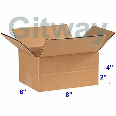 25 Pack 8x6x4 Multi Depth Corrugated Carton Cardboard Shipping Mailing Box Boxes