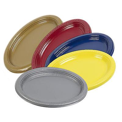 5, 10, 25, 50, 100 x USA e Getta 30.5cm Plastica Ovale Cibo Sandwich Vassoio