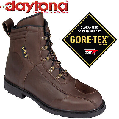 DAYTONA Gore-Tex Motorradstiefel AC CLASSICS GTX braun Nubukleder Retro Gr. 43 - Retro Daytona Leder