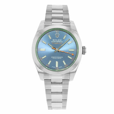 Rolex Milgauss Blue Dial Stainless Steel Automatic Men's Watch 116400GV