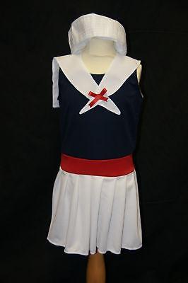 Festzug Viktorianisch / Edwardianisch Matrose Mädchen Kostüm Jedes Alter ()