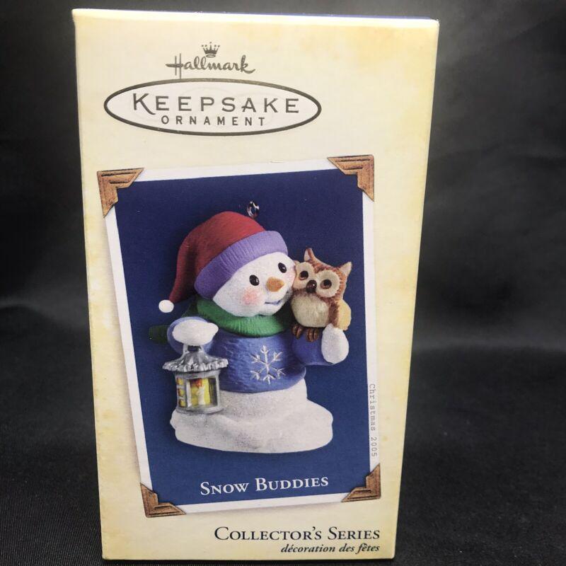 Hallmark Snow Buddies Snowman & Owl Keepsake Ornament 2005 Christmas Tree Decor