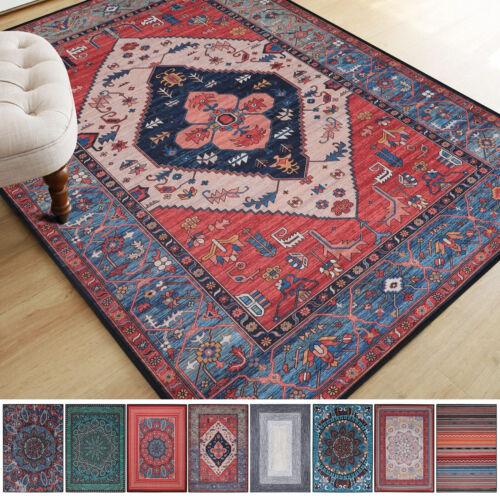 Vintage Boho Carpet Non-Slip Area Rugs Living Room Bedroom R
