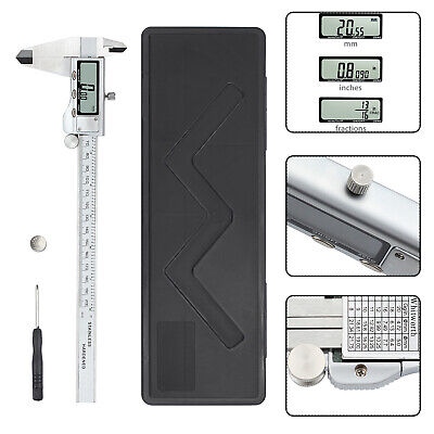 Lcd Digital Vernier Caliper Gauge Stainless Steel Electronic Micrometer 200mm8