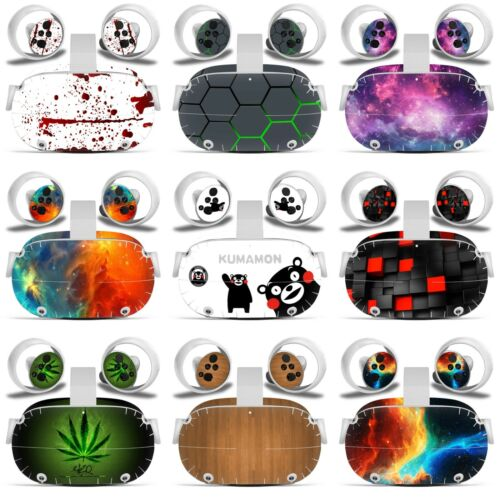 Oculus Quest 2 VR Skin Decal Vinyl Wrap Stickers Cover Full Set -(9 Designs)-L15