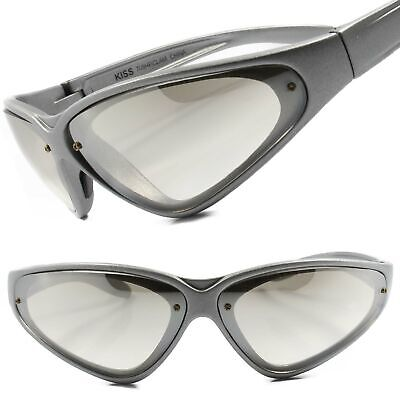 Mens Light Tint Lens Sport Wrap Around Cycling Fishing Golfing Silver -
