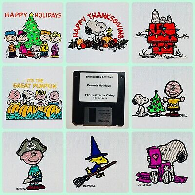 Peanuts Holiday Embroidery Designs Floppy Disk for Husqvarna Viking  Designer 1 ()