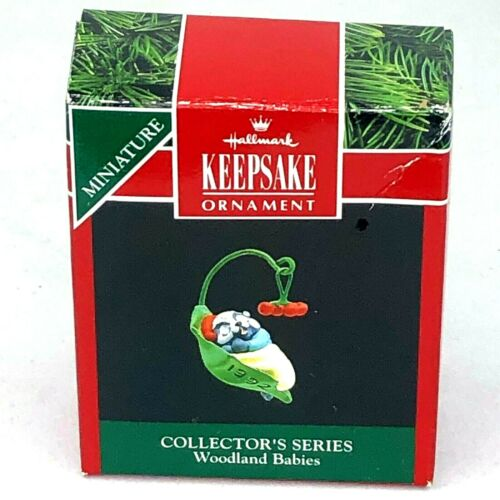 Hallmark Keepsake Miniature Ornament 1992 Woodland Babies 2nd in Collection