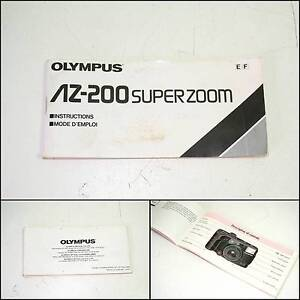 OLYMPUS AZ-200 Superzoom Instructions Manual Applecross Melville Area Preview