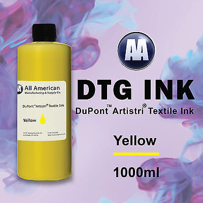 DTG Ink Yellow 1000ml Dupont Artistri Ink, Best Direct to Garment Printer