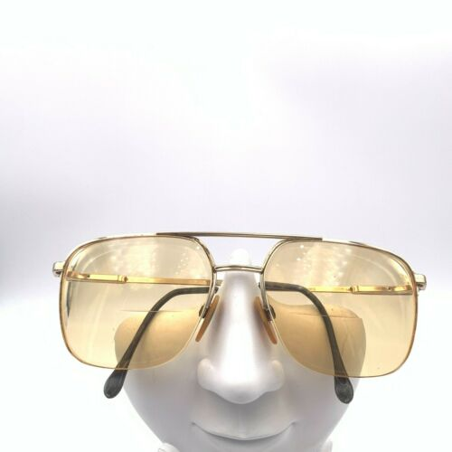 Vintage Luxottica Chris Gold Metal Plated Aviator Sunglasses Italy FRAMES ONLY