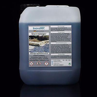 5 Liter Steinreiniger Konzentrat Algenentferner Moosentferner Grünbelagentferner