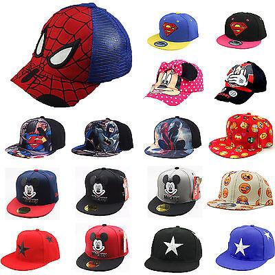 Kinder Jungen Mädchen Snapback Cap Basecap Baseball Kappe Mütze Hip Hop Hat Hut