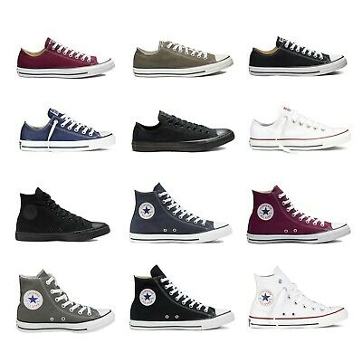 Converse Sneakers Mens Womens Chuck Taylor Low Top High All Stars Trainers Ox Lo
