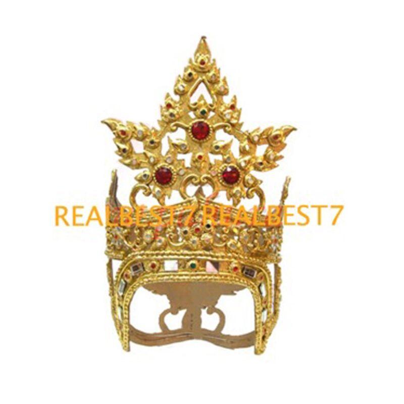 Light Chada Gold Leafs Tiara Original Dancer Red Gems Jeweled & Gold Leaf CLA212