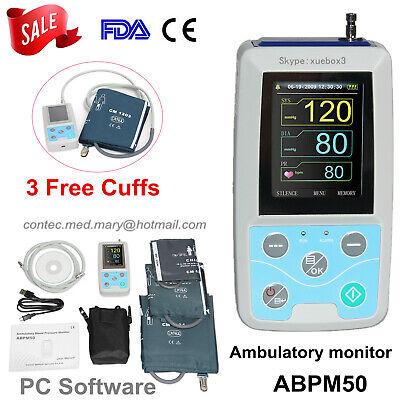 Contec Abpm50 Ambulatory Blood Pressure Monitorsoftware 24h Nibp Holtercuffs