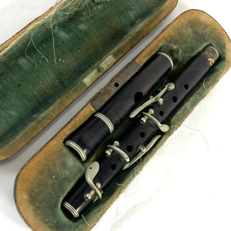 Antique Jérôme Thibouville-Lamy JTL French Piccolo with Original Case for Repair