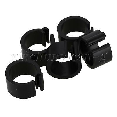 100pcs Plastic Leg Clip Rings D8xH7mm for Chicken Pigeon Poultry Bird Black