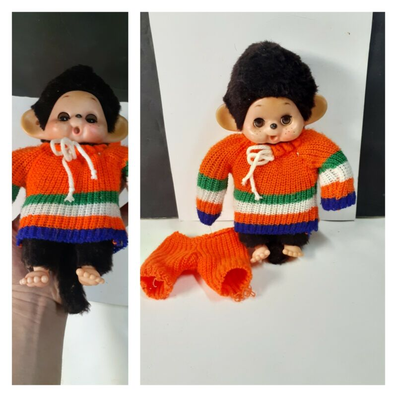 "Vintage 8"" Thumb Sucking Monchhichi Monkey Sleepy Eyes"