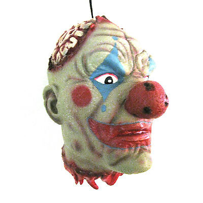 """Lifesize Severed Clown Zombie Head Gory Halloween Party Decoration Prop 11"""""""