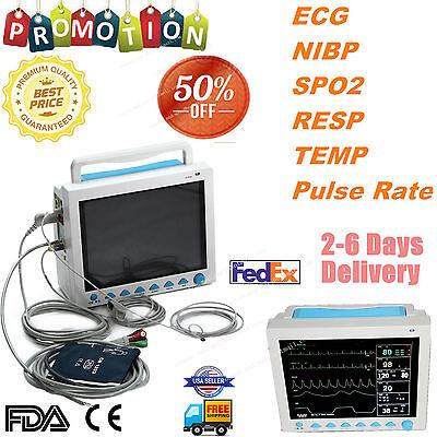 Fda Portable Multi-parameter Vital Signs Patient Monitor Icuccu Machine Cms8000