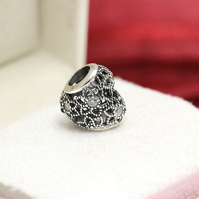 Authentic Pandora Sterling Silver Blooming Heart Charm #796264CZ