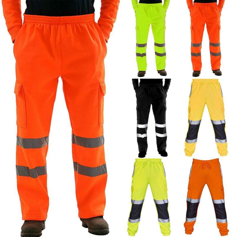Men Hi Viz Vis Waterproof Cargo Trousers Visibility Sweatpan